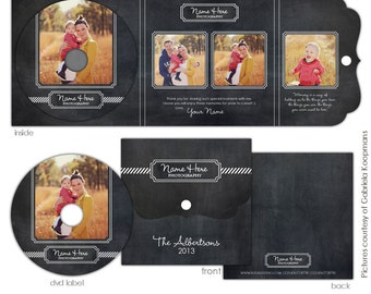INSTANT DOWNLOAD -  Luxe Dvd Case and Dvd label - Modern elegance - E600