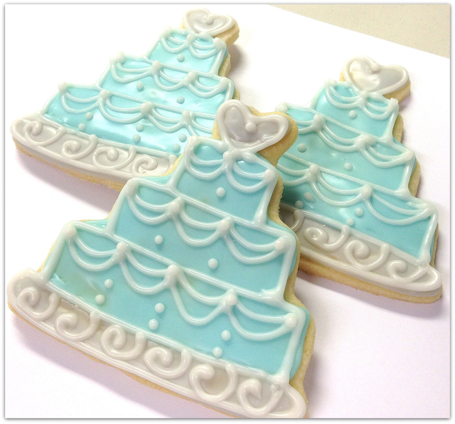 sugar cookie wedding cakes blue wedding cake sugar cookie favor wedding by 20566