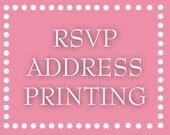 RSVP Envelope Address Printing