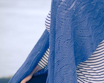 TUNISIAN CROCHET PATTERN pdf: Of Sails and Waves Wrap