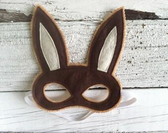 Woodland Bunny Rabbit Mask - Felt Animal Mask - Easter