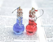 Video Game Inspired Health and Mana potion Earrings (rounded)