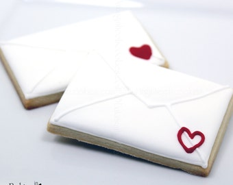 Valentine's Day Love Letter Decorated Sugar Cookies, Valentine Cookies, Love Letters, Decorated Cookies, Custom Cookies