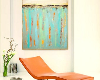 """Art and Collectibles Painting Abstract Acrylic Art on Canvas Titled: Unscripted 3 30x40x1.5"""" by Ora Birenbaum"""