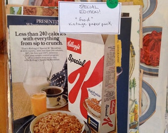 """Special Edition Vintage Paper Pack - """"FOOD"""""""