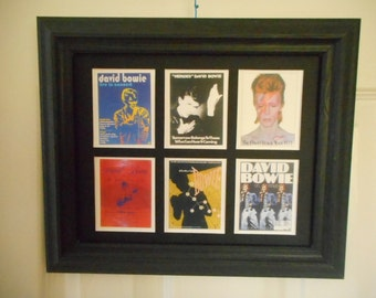 DAVID BOWIE  (6 miniature pictures in a frame