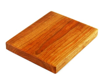 "Thick Cherry Wood Cheese Board - Solid Slab - Ready to Ship - 10""x8""x1-1/4"""