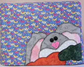 Easter Gift,2 Slice Toaster Cover, Bunny Rabbit, Spring Decor, Small Appliance Cover, Decorative Dust Cover
