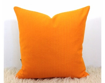 "Cushion Cover Vintage 70s Orange Fabric, Retro Kitsch 16"" x 16"", Retro Throw Pillow Cover"
