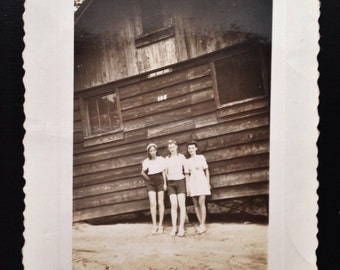 Original Antique Photograph Camp Girls