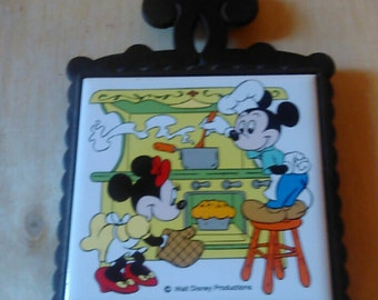 N.T.K. Souvenir Mickey and Minnie Mouse Trivet