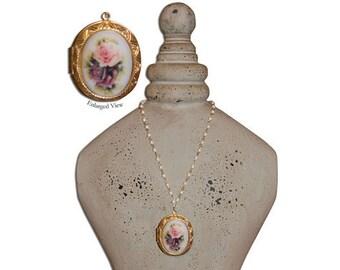Jane Austen/ Georgian Regency Style Cameo Locket  Necklace: Emily at Almacks