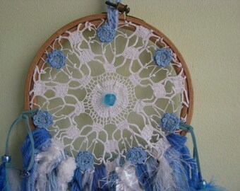 Dream Catcher -  Wall Hanging - Home Decor - BLUE RIVERS RUN 2 - Vintage - Shabby Chic - Boho - Dream Catcher - Dream - Gypsy - Freespirit