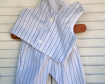 baby boy Pinstripe Boys Baby Pedal Pusher Pants and Vest  Baby boy suit, birthday outfit for boys , Birthday suit for boys 0-3 months