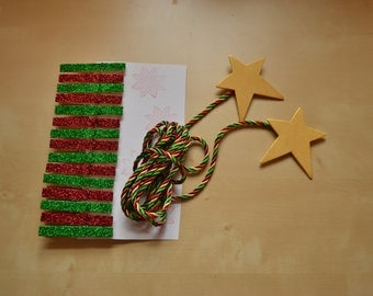 Christmas Card Holder with star ends