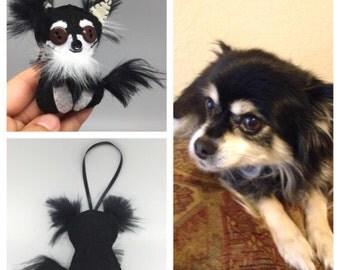 Dog Ornament, Mini Me Pets custom made ornament dog in felt, keepsake, pet memorial
