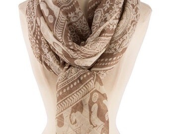 Best selling items, Elephant prints Scarf, Gift women, paisley print Scarf, Soft Scarfs, summer gifts for Women Gift - By PiYOYO