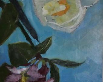 Peony and poppy Original Oil Painting