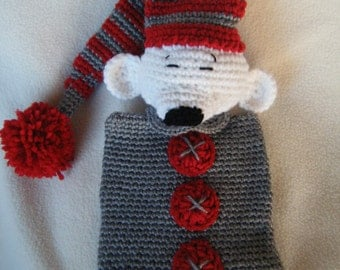 Crocheted Sleepy Misha Lovey/Security Blanket Plushie