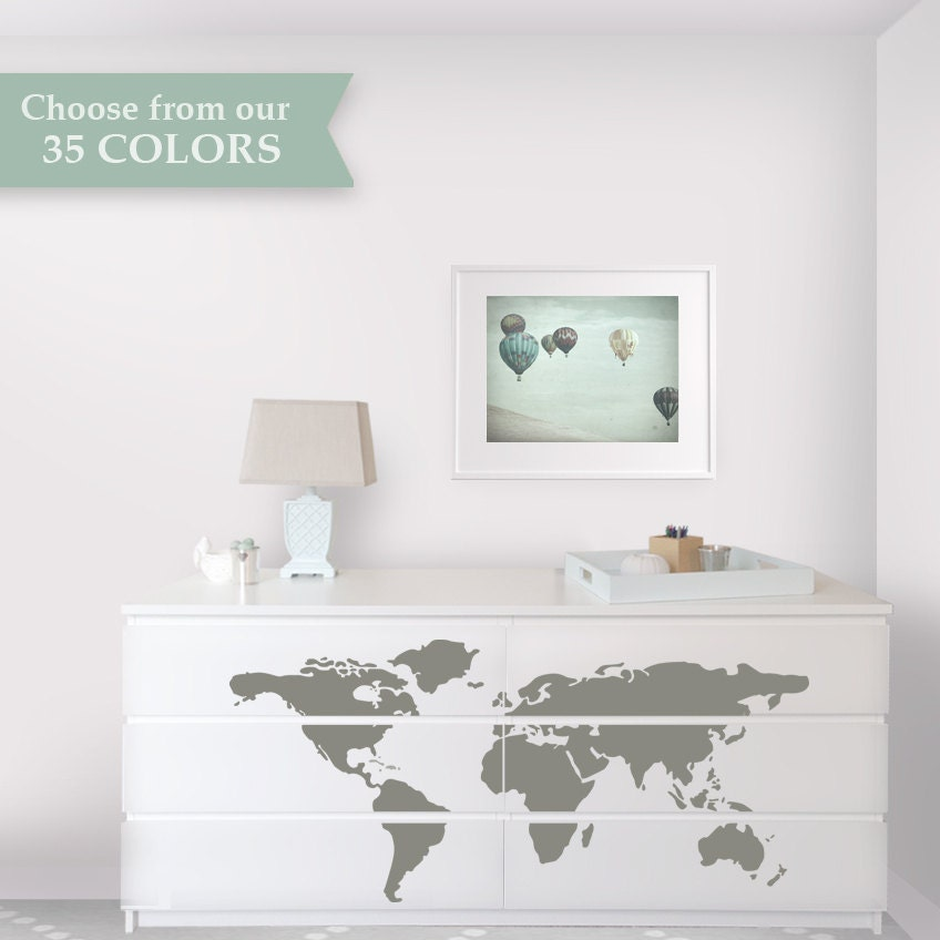 Map Dresser Makeover Dresser Decals Designed To Fit Malm