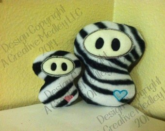 Stuffed plush toy Ninja Embroidery Design - Instant Download