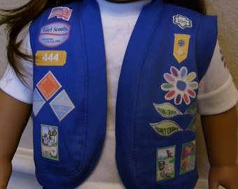 18 Inch Doll Clothes - Daisy Girl Scout Vest
