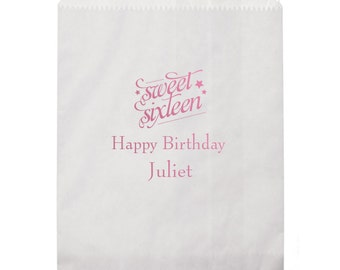 Sweet Sixteen Personalized Favor/Goodie Bags