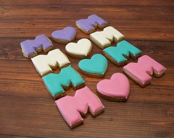 Decorated Cookies - Mom cookies favors - 1 dozen