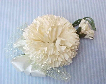 Lovely 1950's Carnation Corsage or Millinery Flower