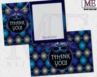 Masquerade Thank You Cards, Thank you card, Masquerade Cards, Masquerade Party, Masquerade Thank You Card