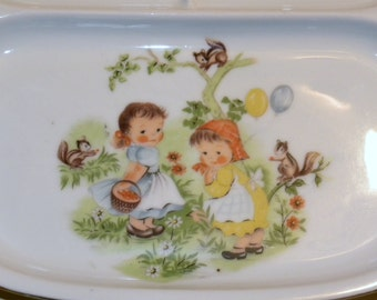 Adorable Divided Plate Children's Divided Plate Divided Baby Feeding Plate Fine Seyei China Colorful Children's China Baby Shower Gift Love
