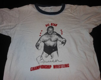 70s Dick The Bruiser wrestling t shirt - awa wwf nwa wwe wrestler