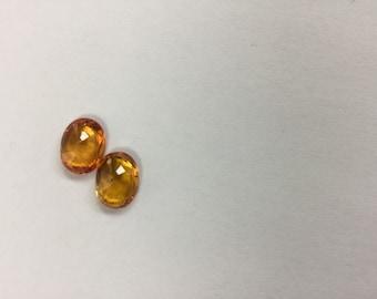 Natural Dark Citrine Sapphire Ovals