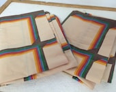 Pair of Funky 1970's Pillow Cases