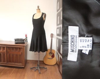 80s Moschino Black Dress size 12