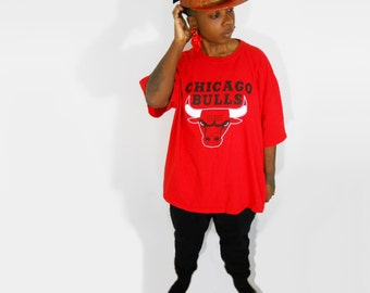 Michael Jordan/ Urban Streetwear/ 90s Streetwear/ Chicago Bulls Tshirt/ Sneaker Head/ 90s Hip Hop/ Air Jordan/ Throwback/ 90s Sporty