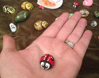 Miniature Painted Pebble Rocks
