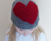 Knitted Valentine's Day Hat (Child Size)