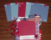 4th of July Paper Bag Scrapbook Album 5x5