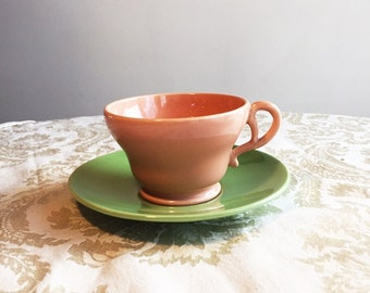 El Patio Gladding Mcbean Franciscan Teacup and Saucer Set Made in California