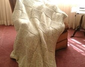 Reserved for customer - Afghan - Over sized in a neutral Wheat color