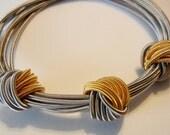 Piano Wire Bracelet Silver & Gold Knots