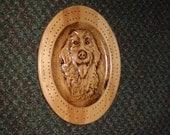Rustic Golden Retriever Cribbage Board
