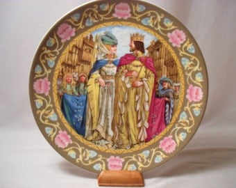 The Wedding of Arthur and Guinevere Wedgewood Collector Plate