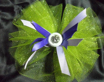 Round Lime Green Hair Bow