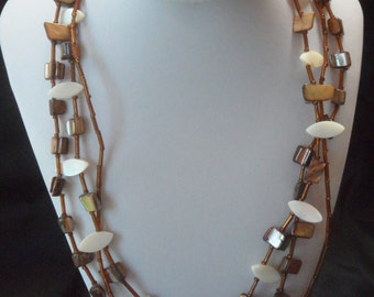 Brown Necklace, Bracelet, and Earrings.