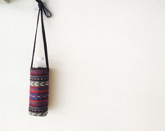 Handmade Tribal Water Bottle Holder Carrier