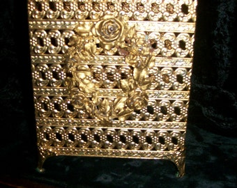 Ormolu Gold Square Tissue Box