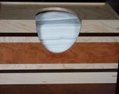 Handmade Large Size Wooden Puffs Tissue Box Cover Made out of Maple, Cherry, and Walnut - Free Shipping to USA