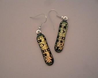 Dichroic Fused Glass Earrings - BHS03143
